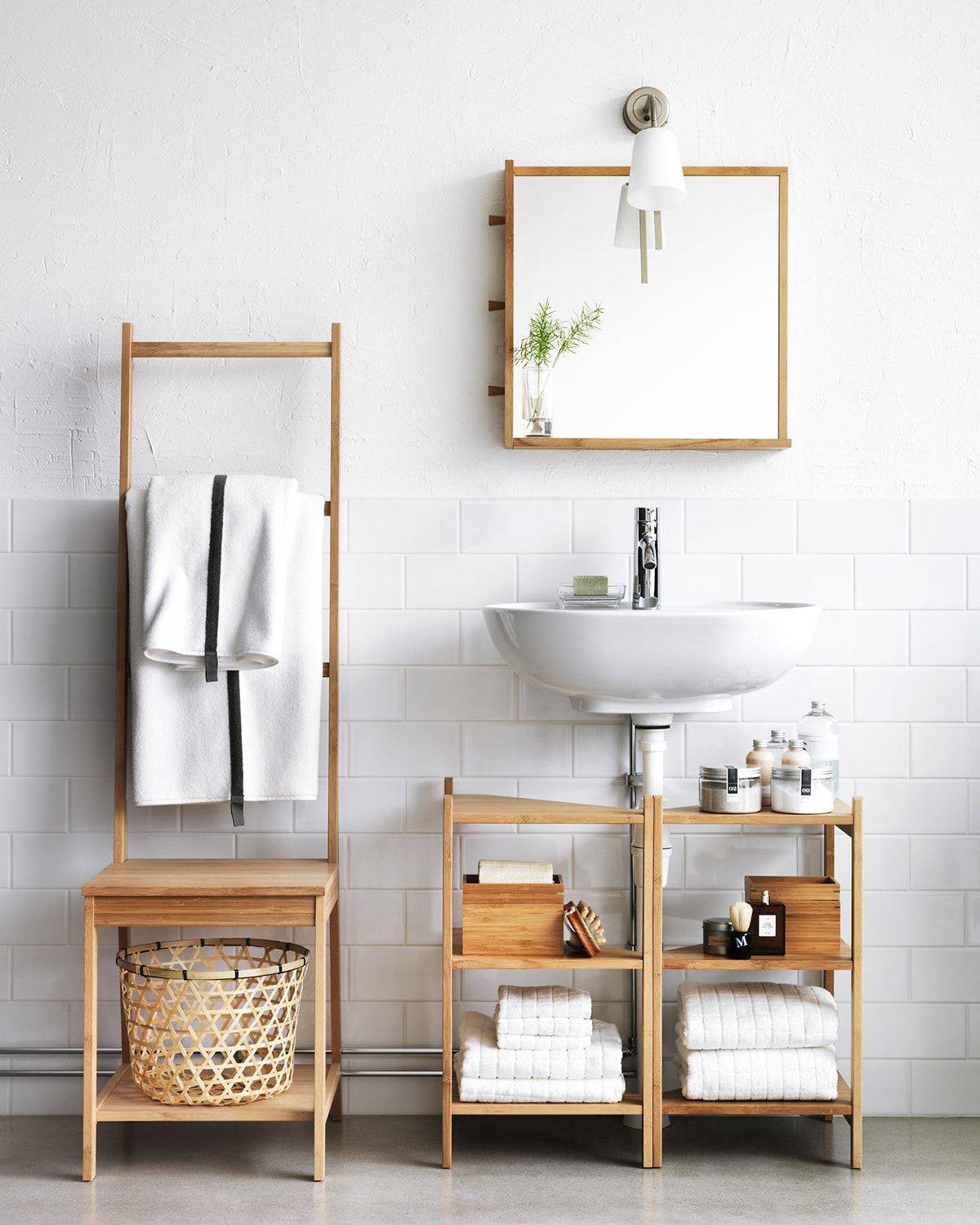 Want Your Bathroom To Feel Bigger Brighter And Better This Cool Bathroom Organization Ideas Will Do That For You Look This Out Bath Ikea Bathroom Small Bathroom Furniture Bathroom Shelves