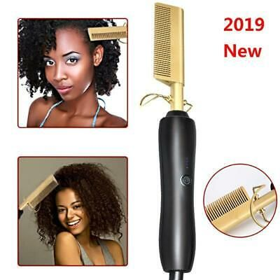 Ad) Comb Wet and Dry Hair Use Hair Curling Iron Straightener