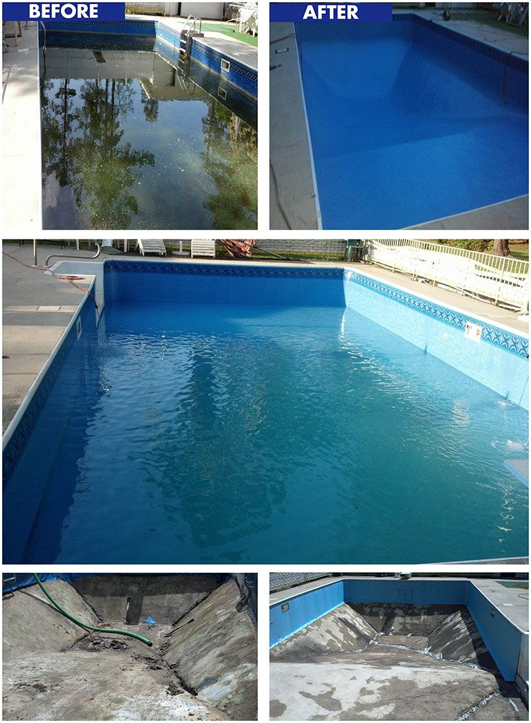 blue wave pool services this pool had a high water table that would fill the
