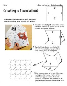Elementary Art Lesson - Tessellation Lesson Plan in 2019 | | 5th ...