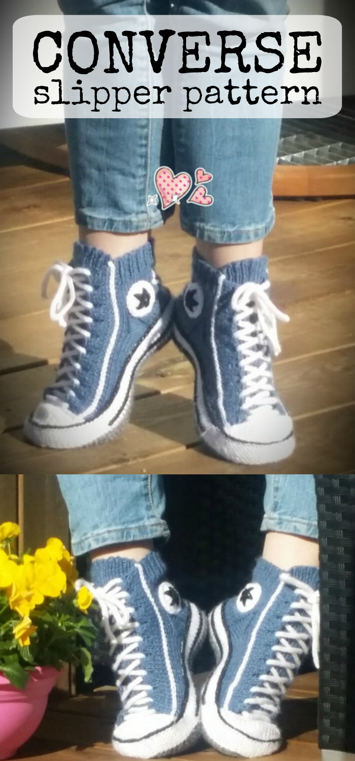Converse Slippers Pdf Knitting Pattern These Socks Are So Cool