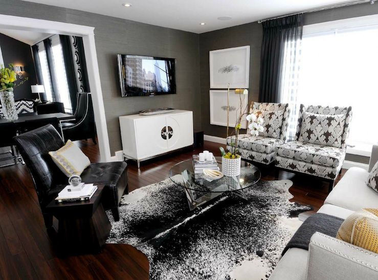 Pin By Elegant Touch On Living Room Contemporary Wallpaper Living Room Cowhide Rug Living Room Rugs In Living Room #yellow #gray #and #white #living #room