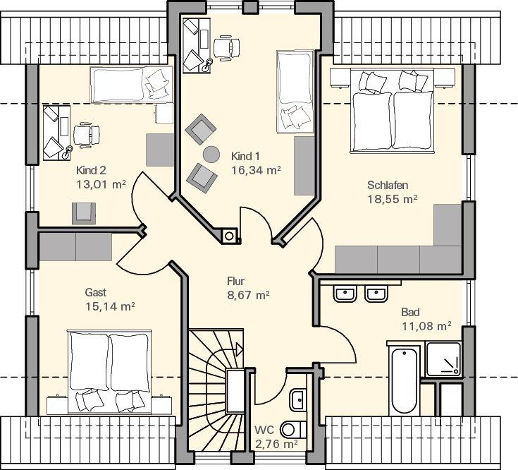 Grundriss DG Oswald | Häuser | Pinterest | Haus und Bauchmuskeln