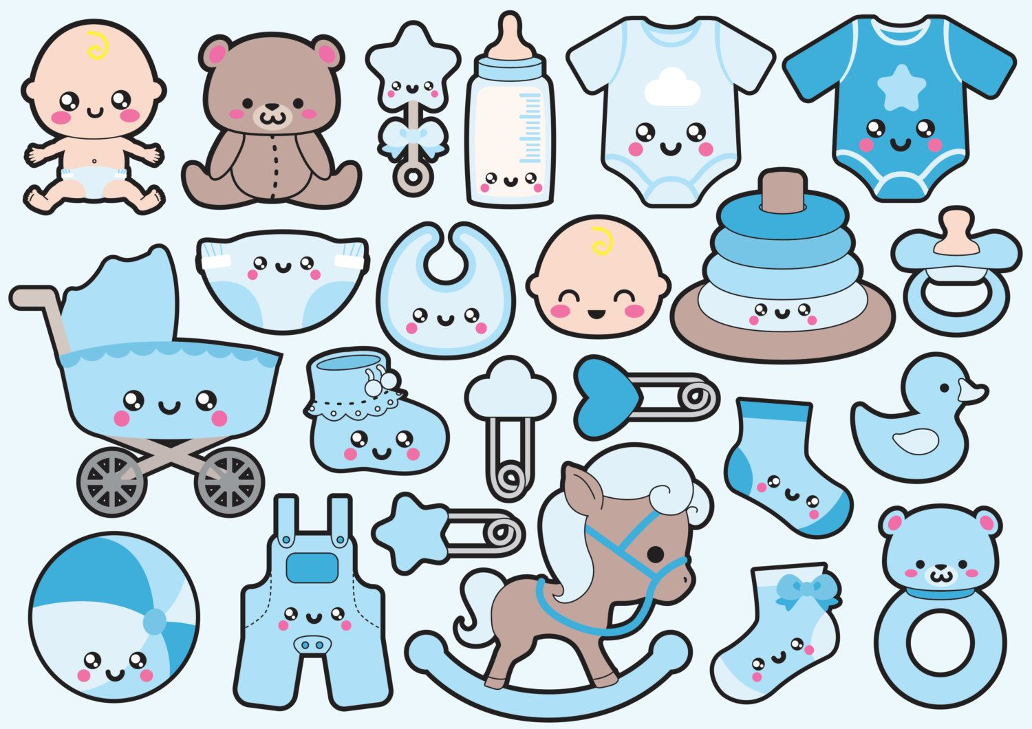 small resolution of high quality vector clipart adorable kawaii baby vector clip art kawaii baby clipart set