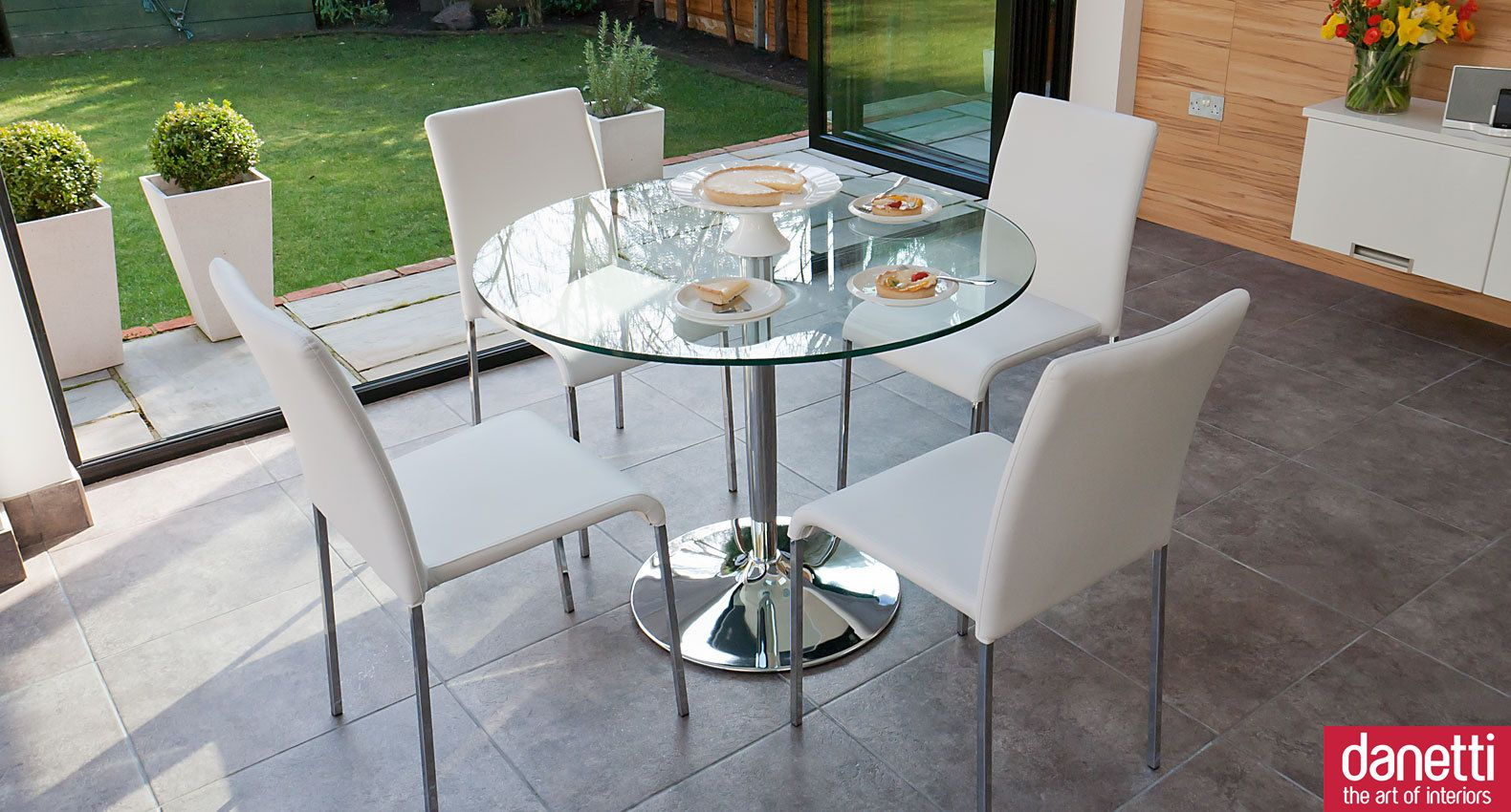Naro Clear Glass and Tori 4 Seater Dining Set | Pinterest | Glass ...