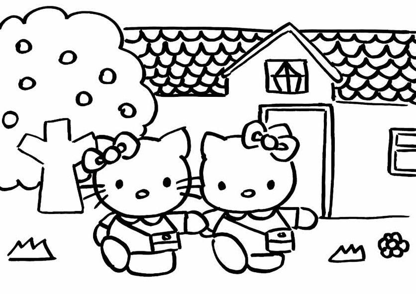 kostenlos hello kitty malvorlagen | Basteln Hort | Pinterest ...