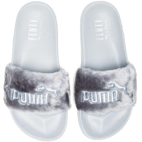 wholesale dealer 1d832 6e07a Fenty by Puma Leadcat Faux Fur Slide Sandals ($92) ❤ liked ...