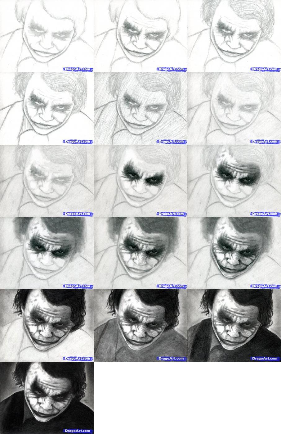How To Draw The Joker From The Dark Knight Art Tutorials