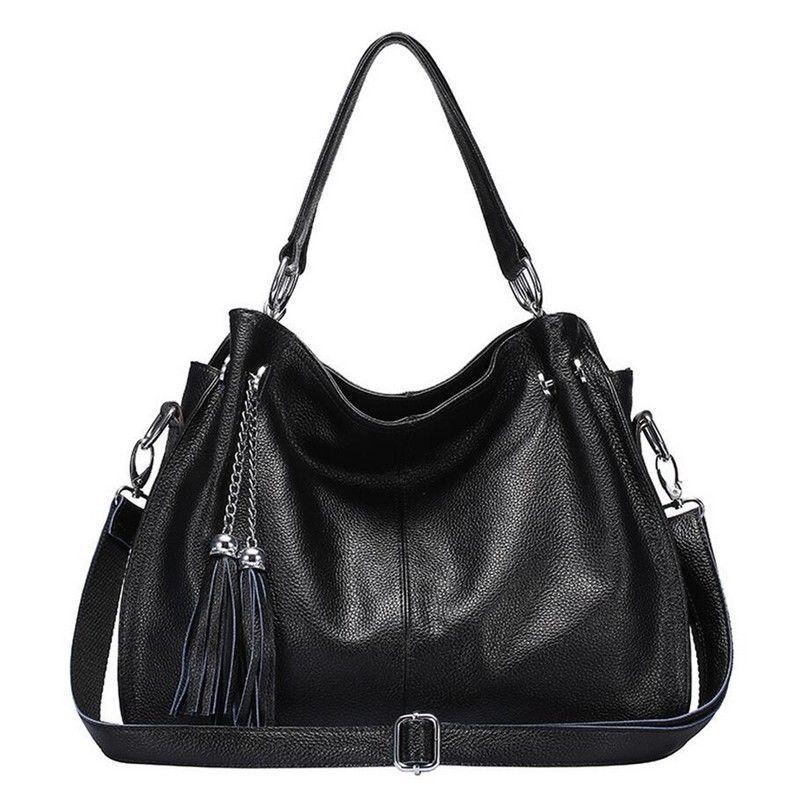 d2601f5b91  12.66 - Women Genuine Cowhide Leather Shoulder Tassels Bag Cross Body Tote  Handbag Purse  ebay  Fashion