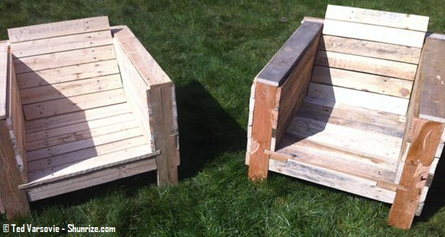 Bricolage creer du mobilier de jardin avec des palettes en bois shunrize design maison - Mobilier de jardin avec des palettes ...
