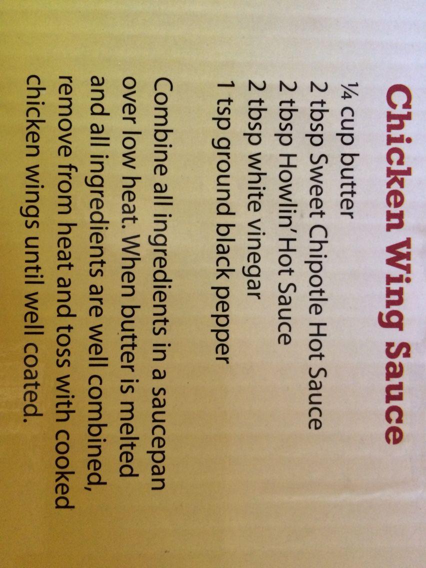 Chicken Wing Sauce