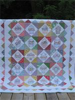 Lap Quilt.  Hand Quilted.  Hand Embroidery by TheRetiredQuilt, $149.00