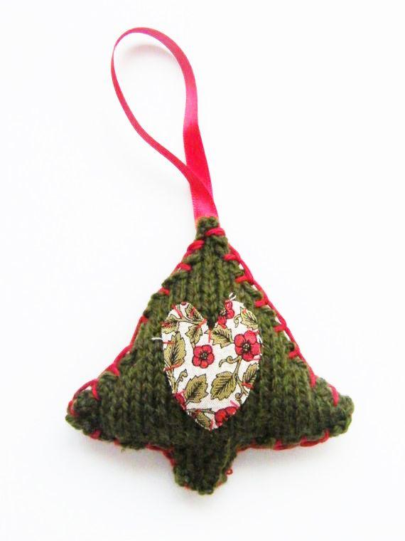 Mini Christmas tree knitting pattern | Knitting | Pinterest