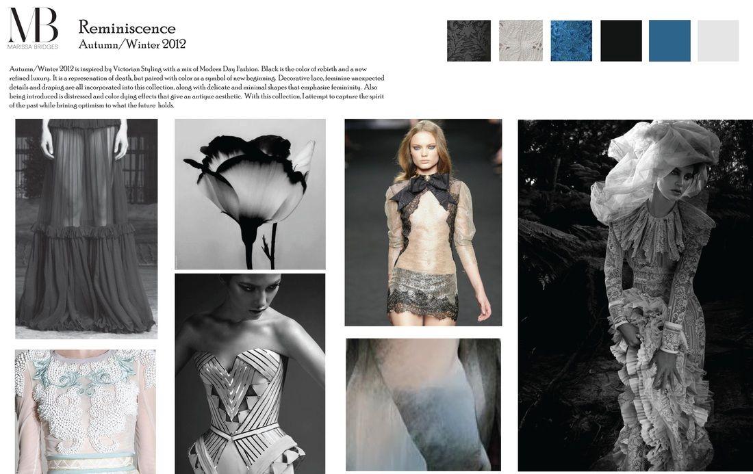 Picture Mood Board Fashion Concept Board Concept