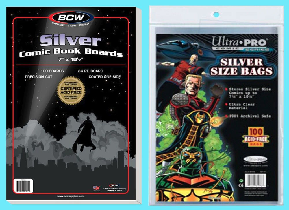BCW MODERN COMIC BAGS 2MIL POLY X100 RESEALABLE CURRENT