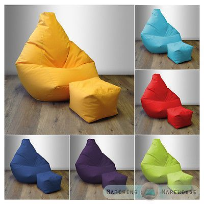 Bean Bag Foot Stool Gamer Beanbag Indoor Outdoor Gaming Play Garden Arm Chair In Home Furniture DIY Bags Inflatables