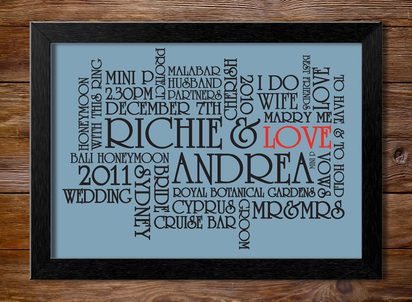 The Perfect Wedding Present Custom Canvas Art Prints Personalised Http