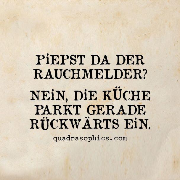 Rauchmelder Kueche... Lustig #Quadrasophics Shop now: http ...