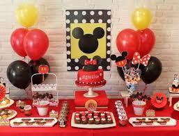 Resultado de imagen para fiesta tematica de mickey mouse