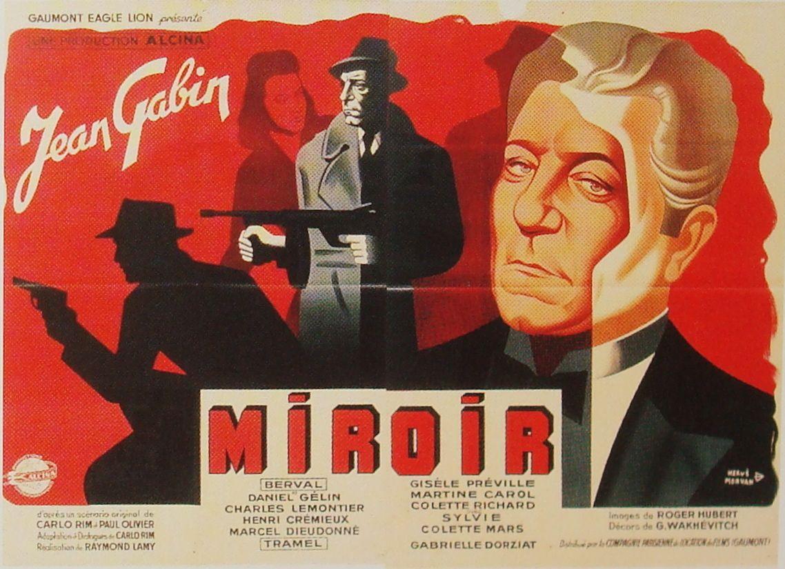 Miroir French Movie Poster Film Mythique Posters De Films Jean Gabin