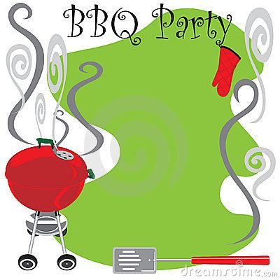 """barbecue invitation clip art with the text """"join us for a bbq"""" """"king"""