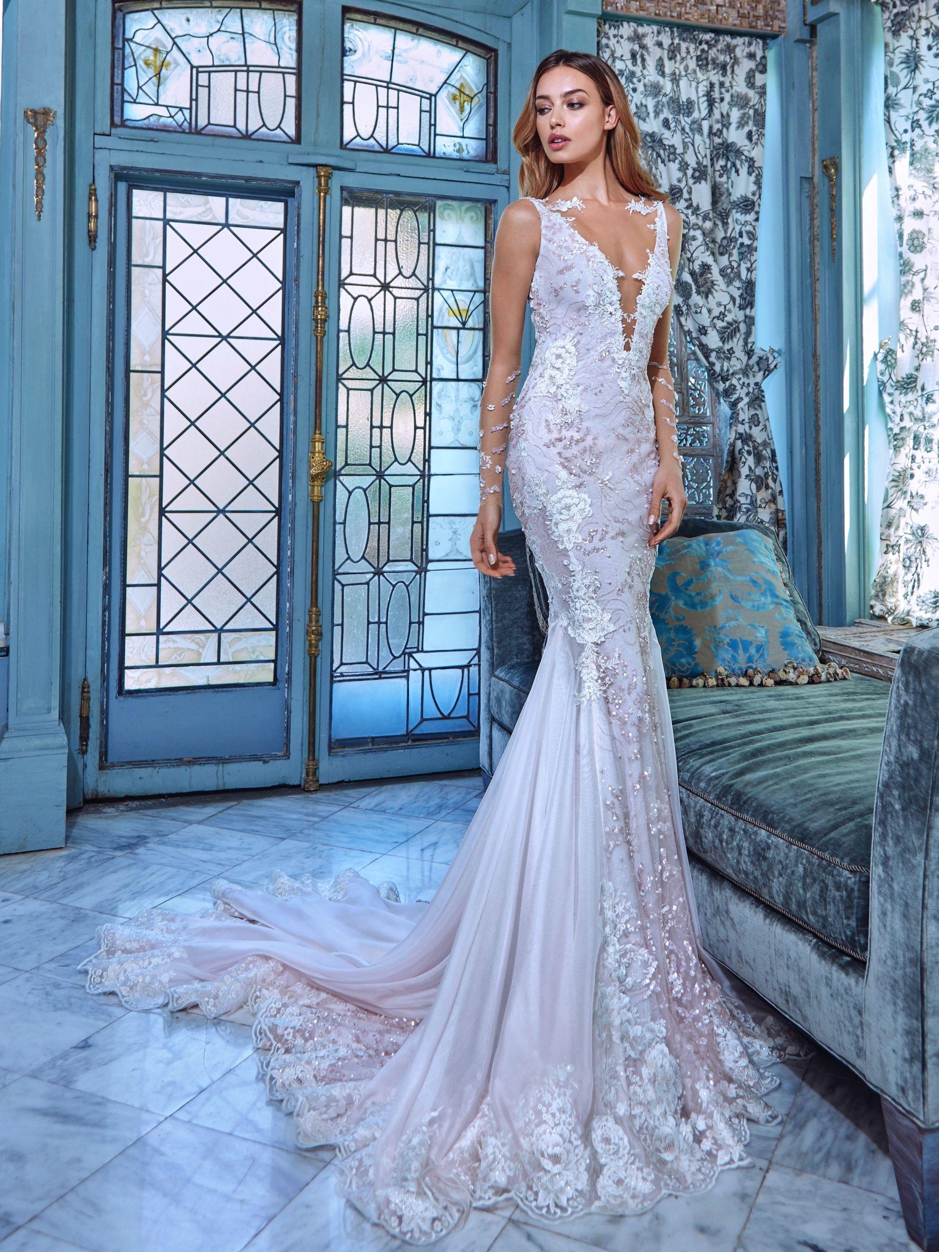تصميمات رائعة لفساتين الزفاف من المصممة جاليا لاهافا 2017 Fantastic ...