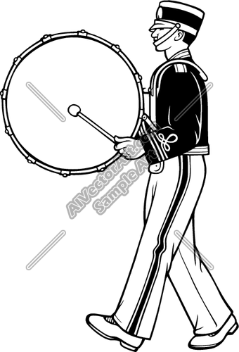 Marching Band Drummer Clipart And Vectorart Sports