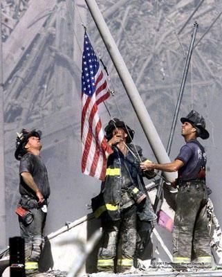 911 Flag - - NEVER FORGET