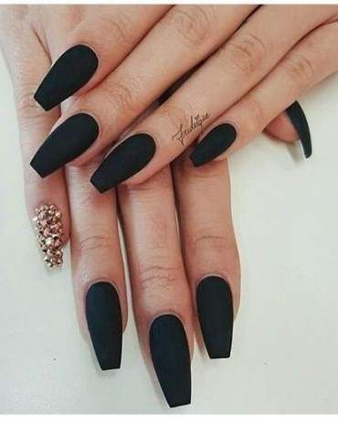 48 ideas nails acrylic coffin long plain nails  winter