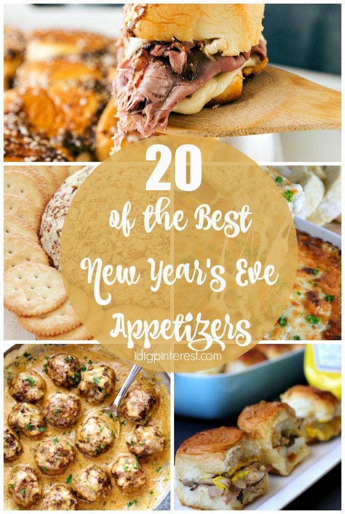 20+ of The Best New Year's Eve Appetizers - I Dig Pinterest