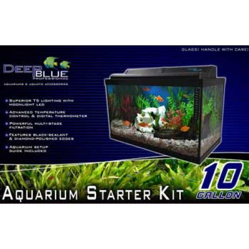 10 Gallon Starter Kit W Tank Display Box Aquarium Kit Aquarium Starter Kit