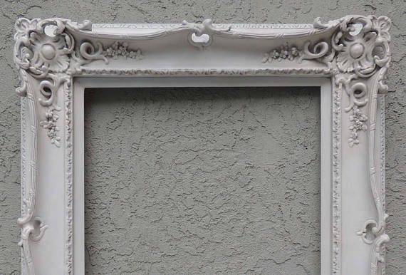 Reserved 20 X 24 White Picture Frames 20x24 Ornate Picture Frame
