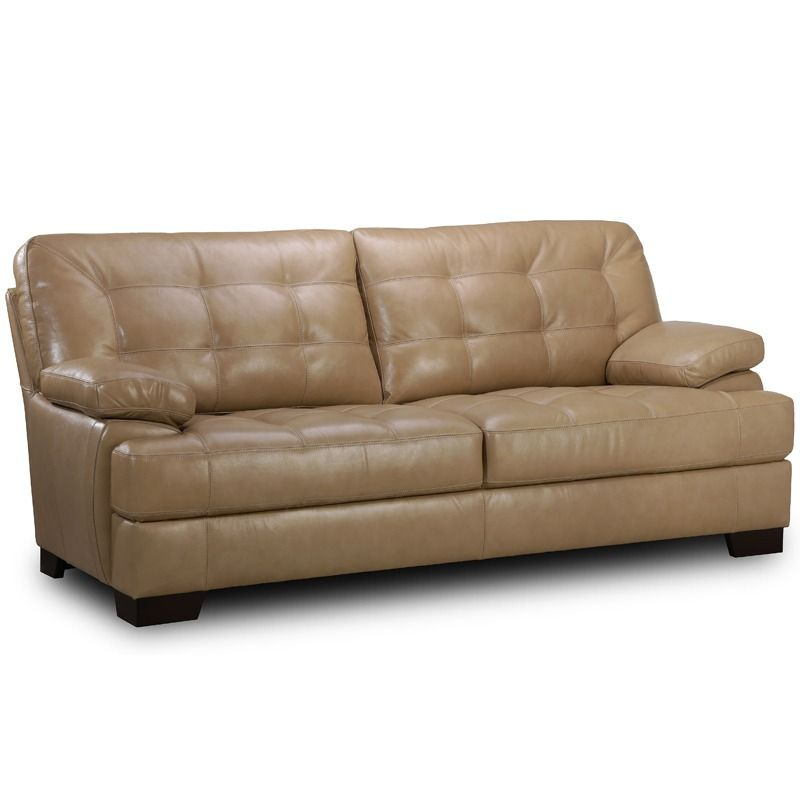 Simon Li Las Vegas Beige Leather Sofa Weekends Only Furniture