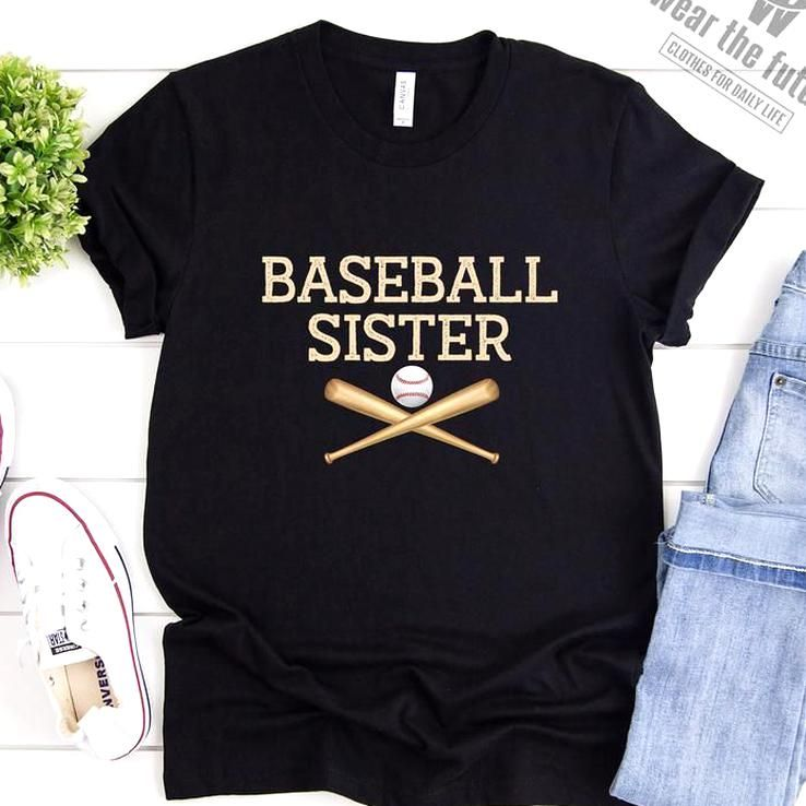 Baseball sister shirt sister baseball shirt siblings day