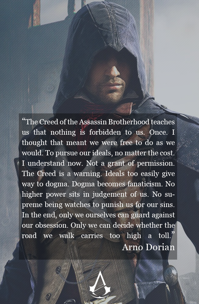Creed Quotes Simple My Favorite Quote From Arno Dorian Towards The End Of The Gam