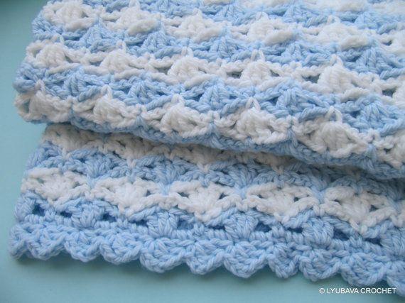 Crochet Pattern Baby Blanket Chunky Baby Blanket By Lyubavacrochet