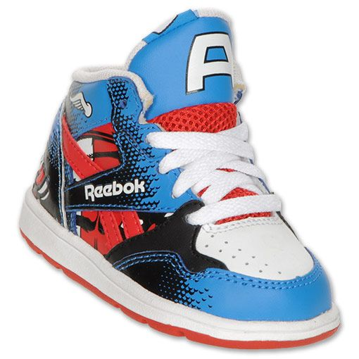 6e5bd642 Reebok Captain America Toddler High Top Shoes | FinishLine.com |  White/Royal/Red