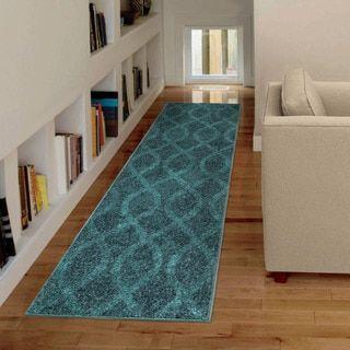 Carolina Weavers Brighton Collection Coil Blue Runner (2'3 x 8')