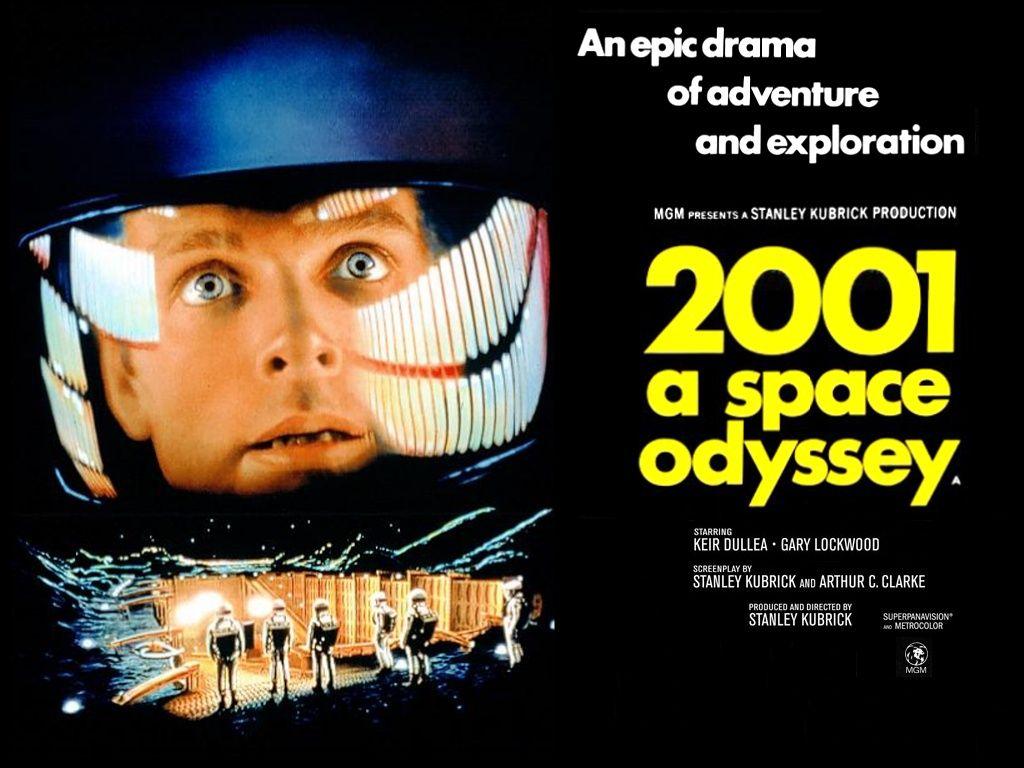 Poster de la película 2001 a space odyssey.
