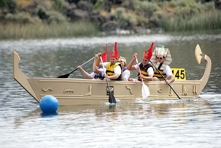 Wet and wild at Oxford Cardboard Boat Race | News | stardem.com ...