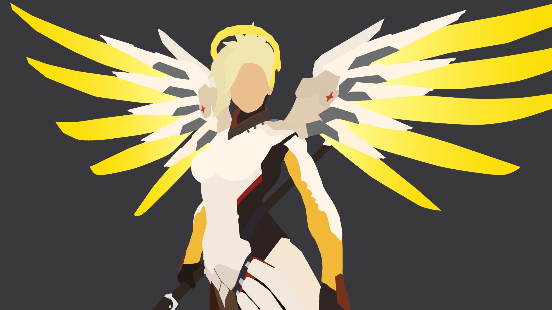 Mercy From Overwatch Vector Art Mercy Overwatch Vector Art Art