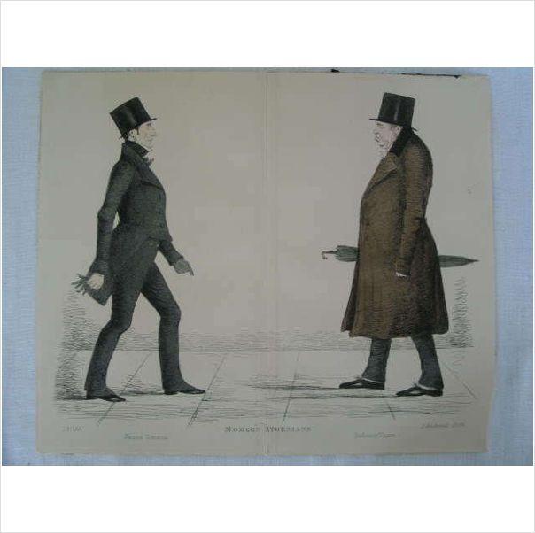 Modern Athenians - Prominent Edinburgh Gentlemen - 1848 Print - Sheet No 46