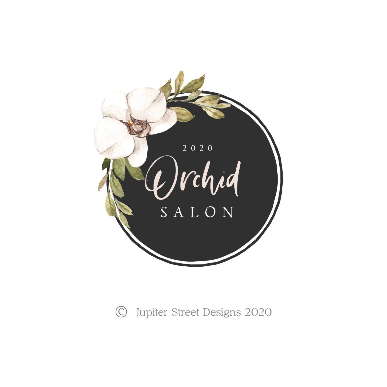 Orchid Logo Flower Logo Design Premade Logo Design Branding Etsy In 2020 Flower Logo Design Flower Logo Premade Logo Design