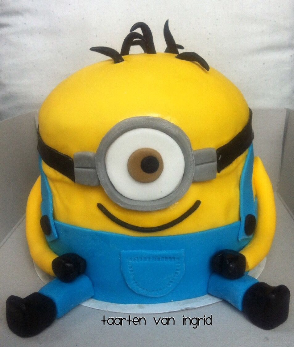 Minion Taart Minion Taart Cake Taart Made By Me Pinterest