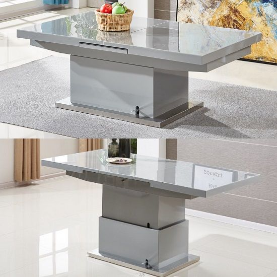 Amazing Elgin Extending Glass Coffee In To A Dining Table In Grey Machost Co Dining Chair Design Ideas Machostcouk