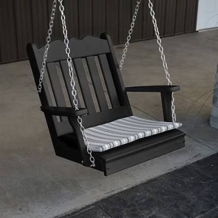 Rubber wood swinging chair