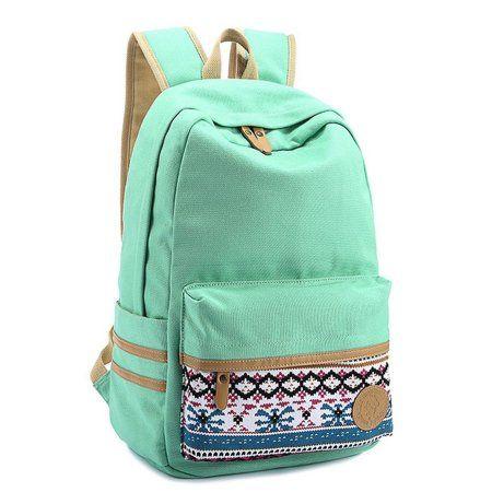f83ebeff6421 Coofit School Backpack for Girls Flowers Pattern Rucksack for School Cute  Bookbag