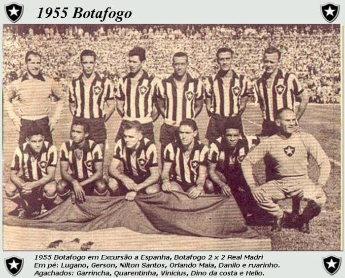 Mundo Botafogo Fragmentos Futebol Do Botafogo 1955 Com Imagens