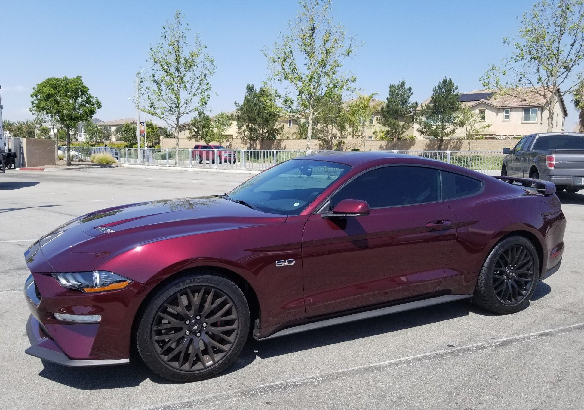 My New 2018 Ford Mustang Gt 5 0 Royal Crimson Red 6 Speed Manual And 465 Horsepower Go Mymustang Red Mustang S550 Mustang Mustang 2018
