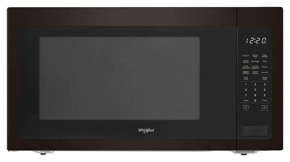 Whirlpool 2 2 Cu Ft Microwave With Sensor Cooking Black